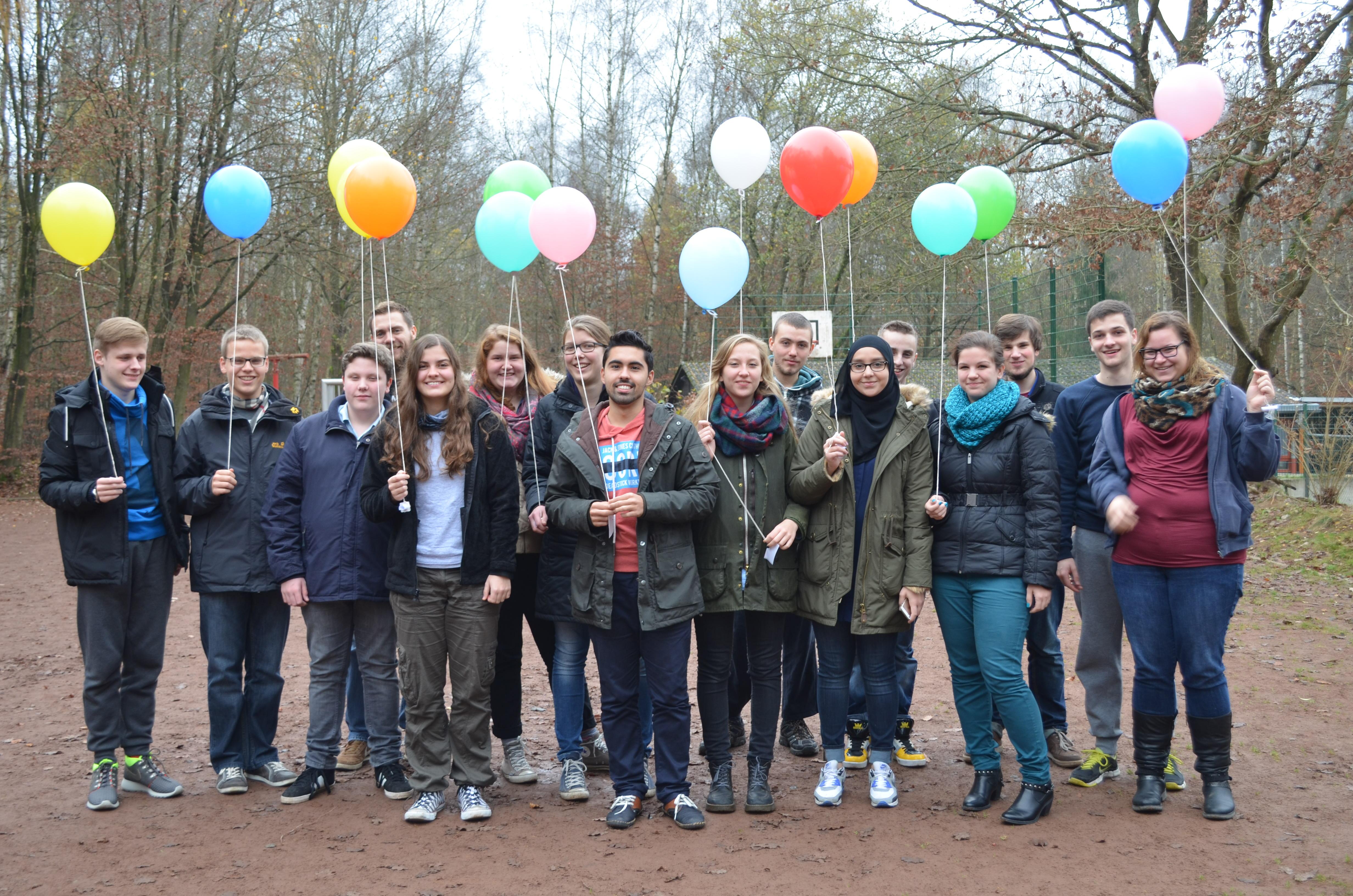 Gruppenbild Ballons